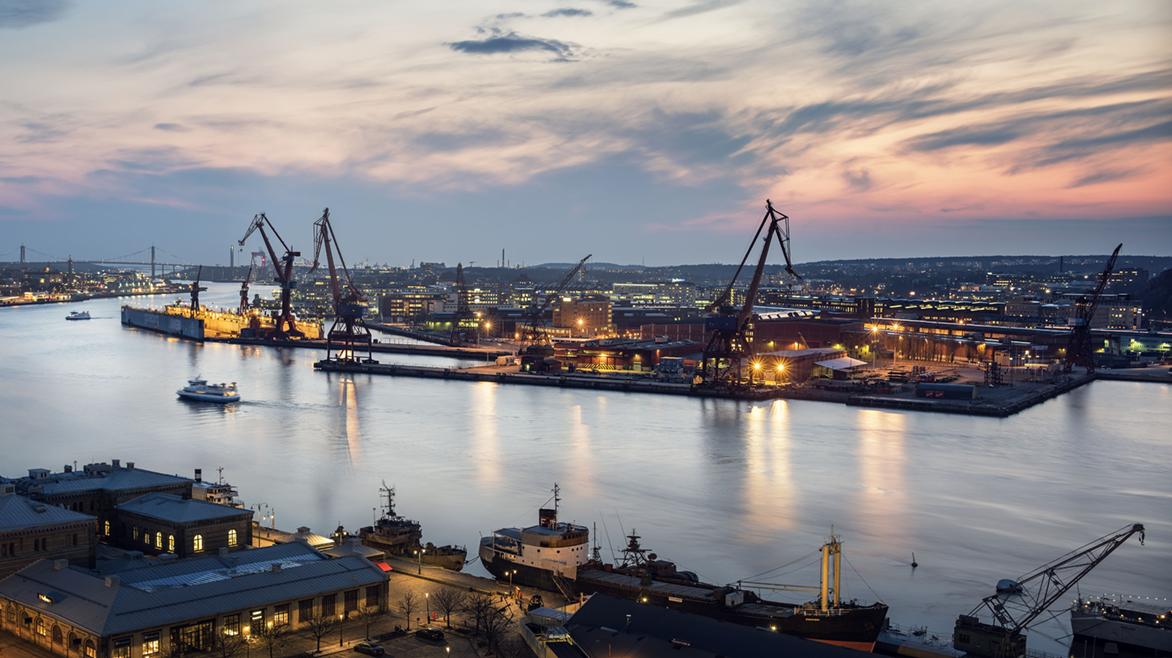 Hamnkranar i Göteborg
